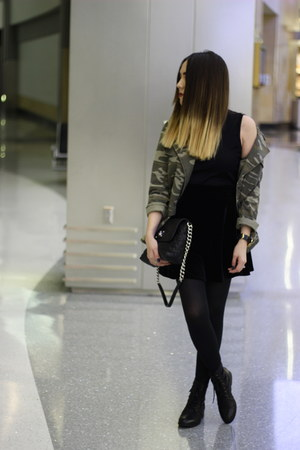 Forever 21 jacket - Forever 21 boots - Marc Jacobs bag