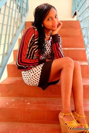 black polka dot dress UTD dress