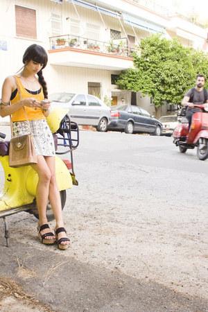 Balmain bag - Zara skirt - Zara t-shirt - C&G heels