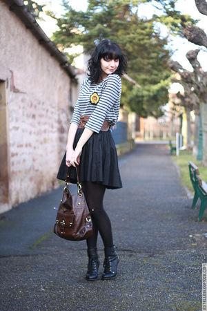 black H&M skirt - black ASH shoes