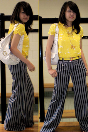 joe blouse - joe pants - winners belt - Guess purse