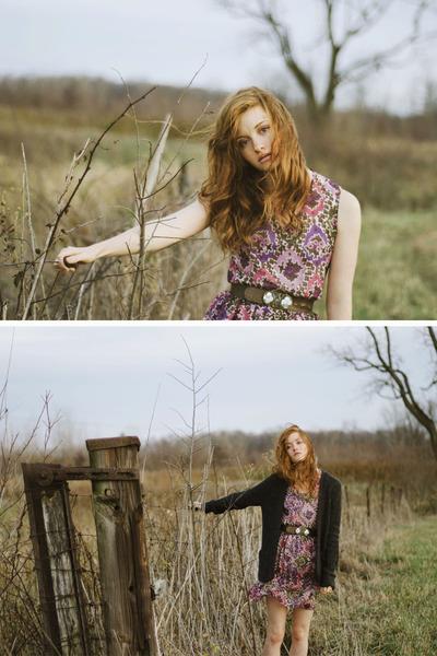 chiffon Esther-fromthesticks dress - knit Forever 21 cardigan