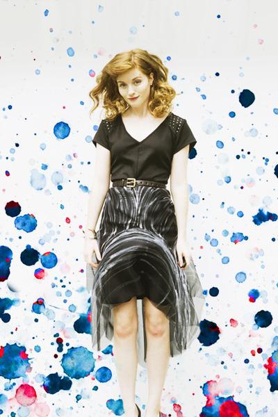 handmade Esther Boller skirt - color block style moi bag