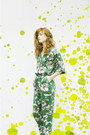 Green-print-sheinside-romper