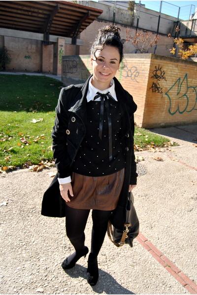 asos jumper - Zara skirt - Mango shirt - Calzedonia panties - Mango coat - tantr