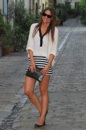 HyM shorts - bimbaylola bag - HyM blouse - Uterque flats