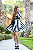 black stripes inlovewithfashion dress