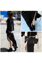 eggshell Forever 21 skirt - black Bershka jacket - black Rebecca Minkoff bag