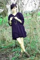 brown suede boots - black suede Mango skirt - dark gray loose unbranded blouse -