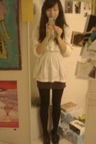 Esprit top - Urban Outfitters shirt - Urban Behaviour tights - bleka shoes