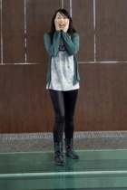 silence and noise jacket - RW&CO top - H&M leggings - Spring boots