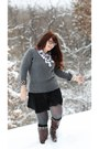 Shoedazzle-boots-target-sweater-anna-sui-socks-topshop-skirt