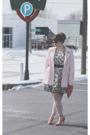 Orla Kiely dress - New York & Co coat - vintage purse - Shoedazzle heels