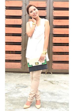 Mango shoes - Zara pants - chatreuse Mango top - Mango bracelet