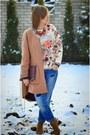Navy-stradivarius-jeans-light-pink-h-m-sweater-crimson-zara-bag
