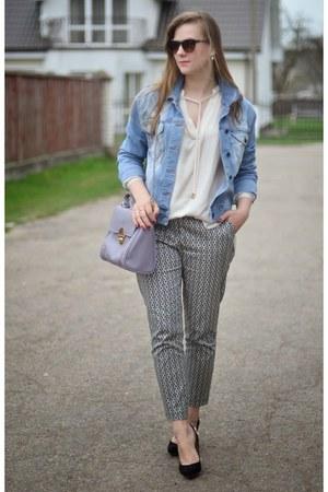 heather gray Deichmann bag - silver next pants - black next heels