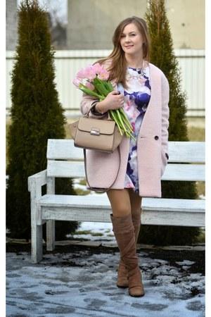 light pink reserved coat - light pink Mango bag