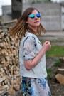Blue-h-m-glasses-light-blue-suited-dress-blue-zara-heels-white-h-m-vest