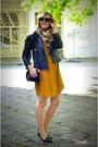 Light-orange-h-m-dress-black-next-jacket-burnt-orange-h-m-scarf