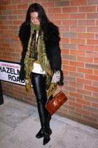 thrifted vintage coat - vanessa da silva t-shirt - asos cardigan - Topshop pants