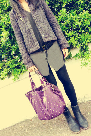 Timberland boots - Reiss jacket - H&M shirt - Anya Hindmarch bag