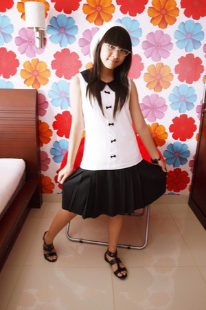 collar ryu myu dress - corchet Lolypop Shop hat - Charles & Keith sandals