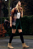 asos hat - Secondhand bag - H&M skirt - New Yorker top - Industrie vest