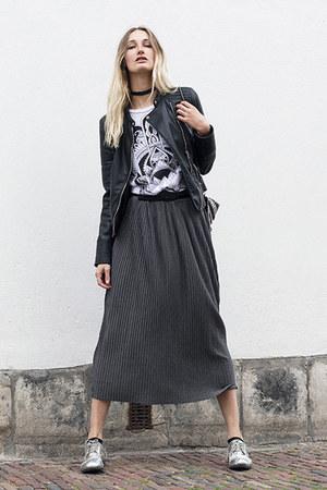 Wholesale7 shirt - asos shoes - Zara jacket - H&M bag - Wholesale7 skirt