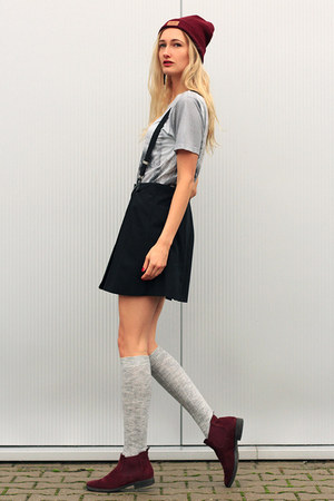 asos hat - Hype shirt - H&M socks - Appel en ei skirt - Topshop necklace