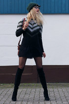 DressLink sunglasses - asos boots - H&M hat - brave soul sweater