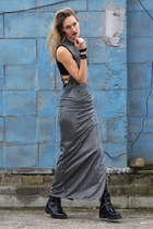 asos boots - Jaded London dress - Hunkemöller top - Eve Wild earrings