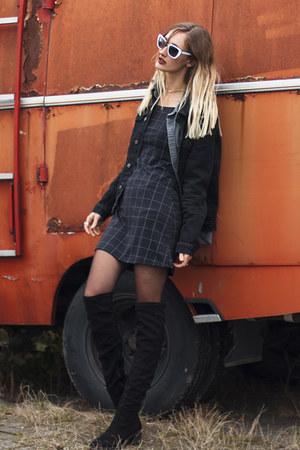 twinkledeals necklace - asos boots - Choies dress - asos jacket