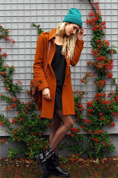vanharen boots - Vila dress - Esprit coat - asos hat - Sheinside bag