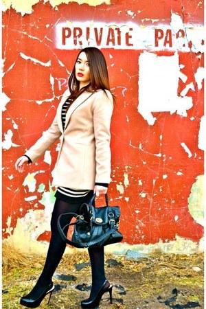 Forever 21 coat - Forever 21 dress - Forever 21 bag - Steve Madden heels