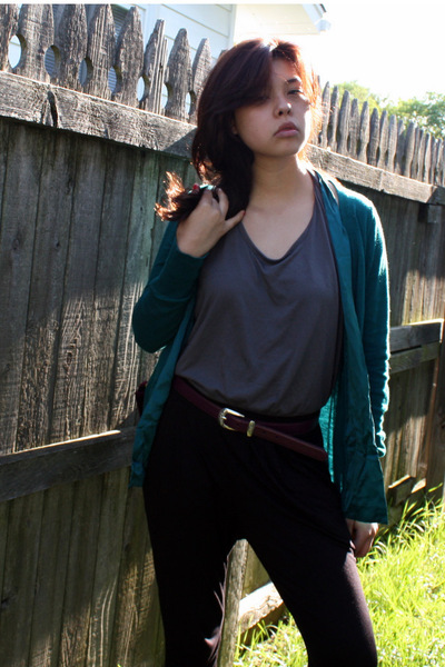Urban Outfitters pants - Target top - Urban Outfitters sweater - belt