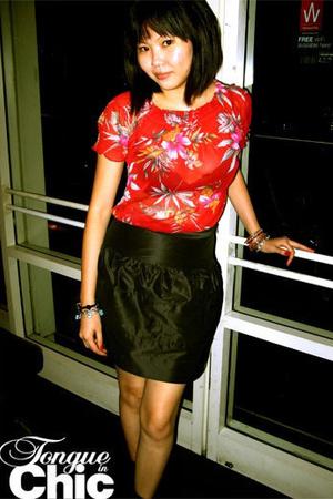 MNG blouse - ck skirt - Topshop socks - stuart weitzman shoes