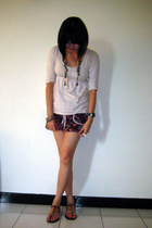 Topshop top - necklace - Mon petit oiseau skirt - shoes