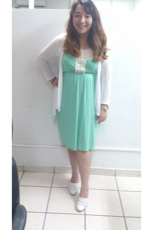 white Baltarini shoes - aquamarine random brand dress