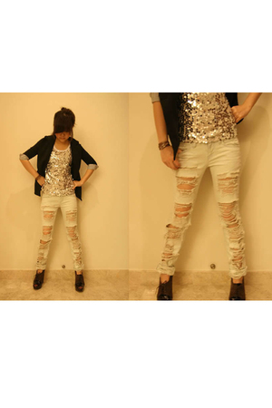 House of Cocaine jeans - House of Cocaine top - House of Cocaine blazer