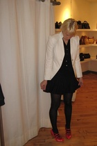 Brunello Cucinelli jacket - Dolce & Gabbana vest - H & M skirt - Chanel shoes