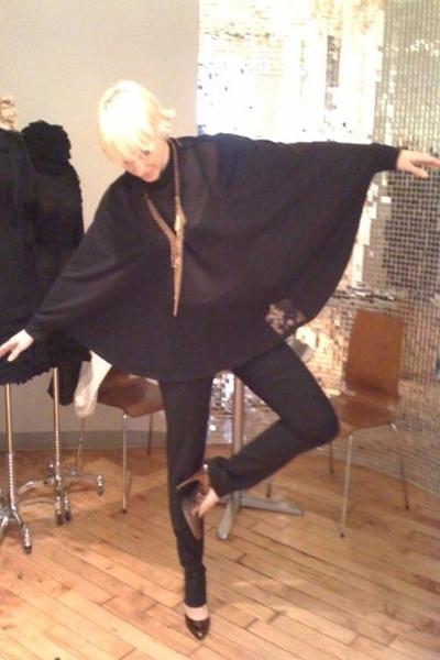 Tom K Nguyen top - Dolce & Gabbana pants - Givenchy shoes - H & M necklace
