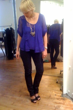 Chris Benz top - craft jeans - Kenneth Cole shoes