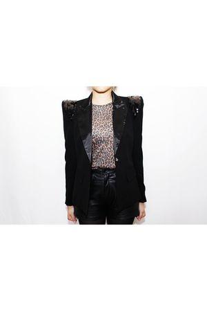 black blazer - t-shirt