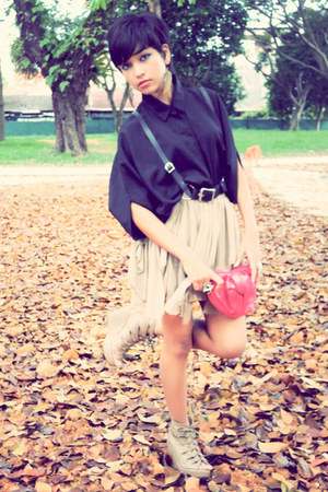 Mango bag - nana room blouse - local blogshop wedges - Lucyd Acycd skirt - Zana