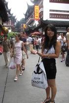 black H&M skirt - gray asos shoes - white GINA TRICOT top