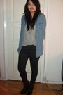 Gray-monki-t-shirt-blue-topshop-shirt-black-topshop-jeans-black-sam-edelma