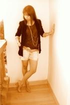 bardot blazer - Zara shorts