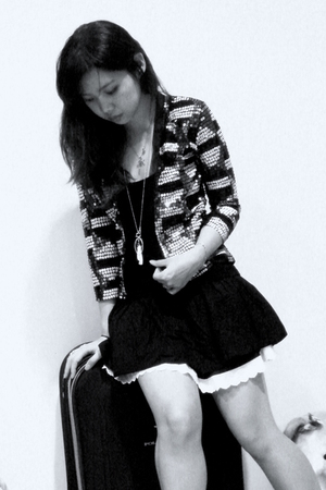 homemade jacket - korean market skirt - no brand top