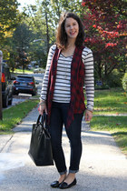 plaid StyleMint vest - blue Old Navy jeans