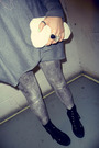 Gray-h-m-sweater-silver-next-leggings-black-newlook-boots